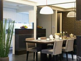 现代低调奢华三居室餐厅装修效果图