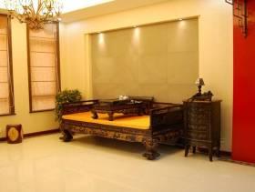 300㎡中式风格别墅起居室圆形吊顶图片-中式风格实木家具图片