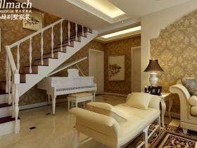欧式风格复式过道楼梯效果图