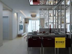 90㎡现代简约风格餐厅背景墙装修效果图-现代简约风格餐桌椅图片