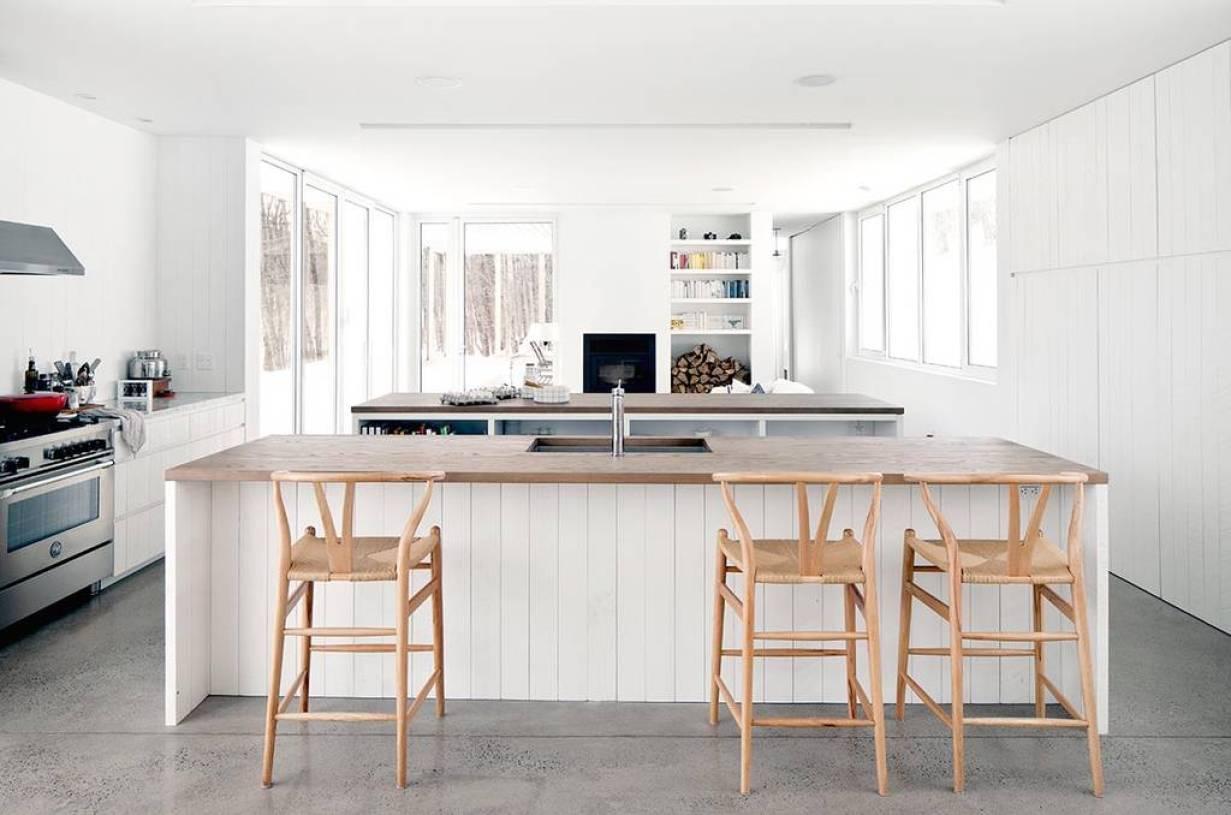 北欧风格开放式厨房吧台装修图片