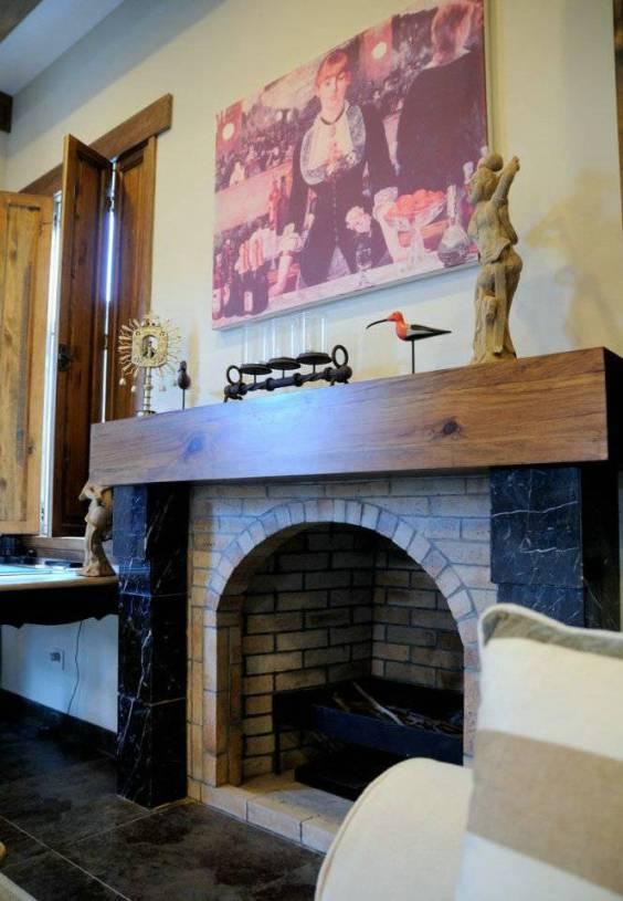 美式乡村风格别墅客厅火炉装修图片图片