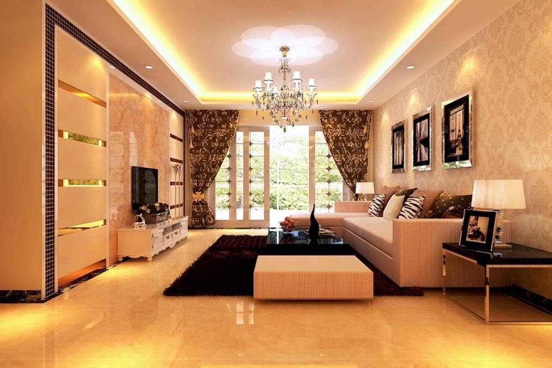 160㎡大户型现代风格客厅吊顶装修效果图-现代风格沙发图片