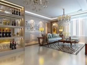 欧式风格客厅吊顶装修效果图,欧式风格酒柜图片