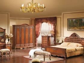 美式风格卧室背景墙装修图片-美式风格卧室柜子图片