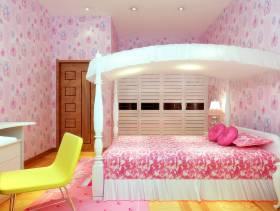 270㎡别墅简约欧式风格卧室墙面壁纸装修效果图-简约欧式风格床图片