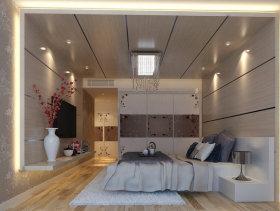 89平米现代二居婚房卧室装修效果图