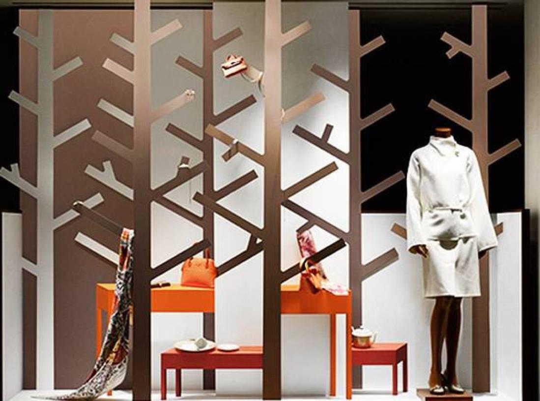 7㎡现代风格女装店橱窗装修效果图