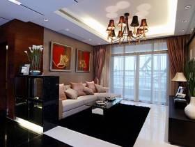 现代简约风格小户型客厅吊顶装修图片-现代简约风格沙发图片
