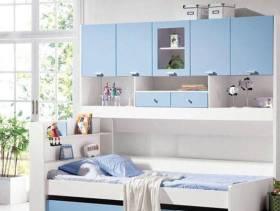 90平米三居室现代风格儿童房装修效果图-现代风格儿童床图片