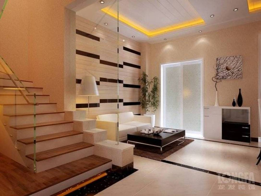 现代风格客厅楼梯装修效果图