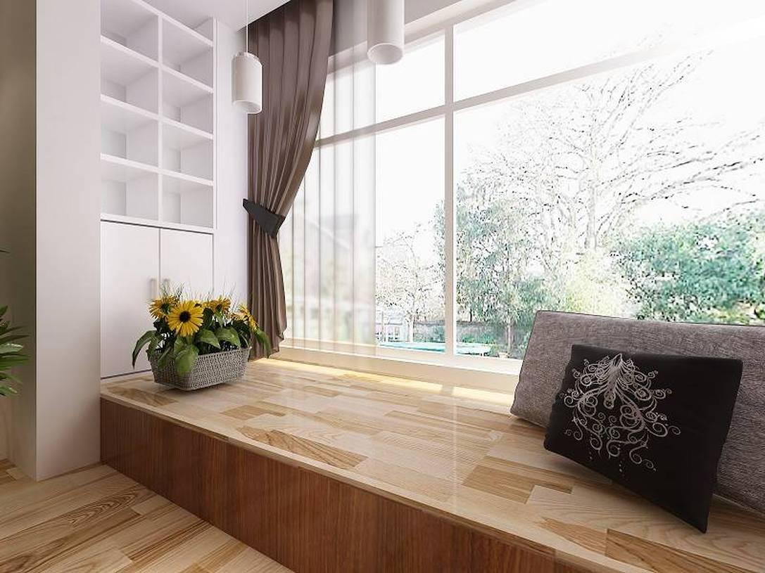 现代风格三居室阳台榻榻米地台装修效果图