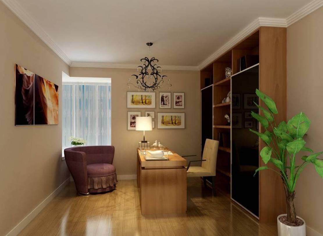 现代风格书房装饰画装修效果图-现代风格电脑椅图片