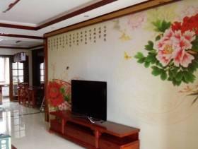 中式风格客厅电视背景墙装修图片