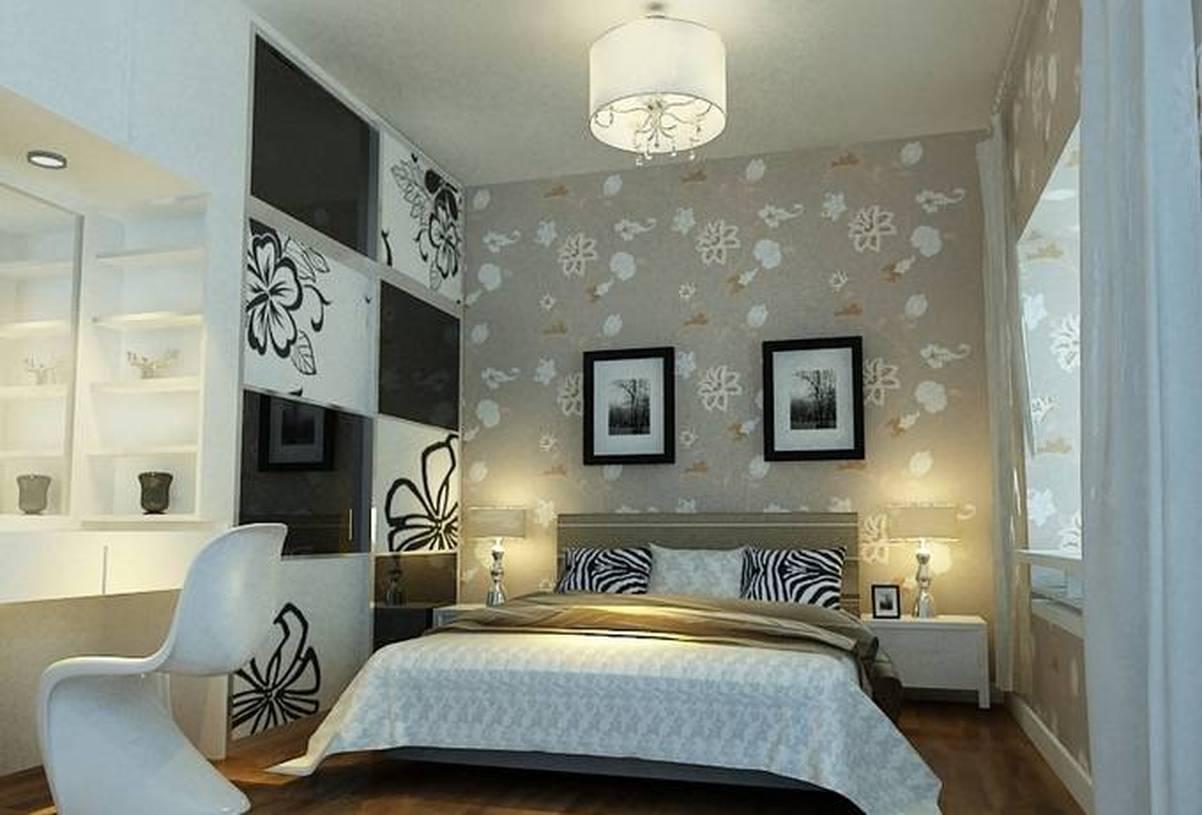 现代风格长方形小户型卧室背景墙装修效果图-现代风格