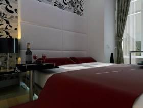 40m²小户型现代简约风格卧室背景墙装修效果图