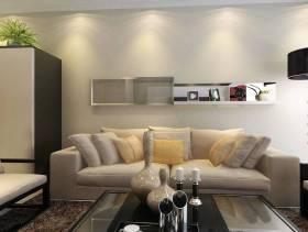 三居现代简约风格客厅沙发背景墙装修效果图-现代简约风格休闲沙发图片