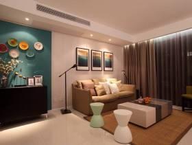 三居客厅侧面整体装修图片