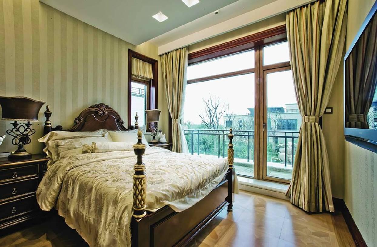 欧式风格卧室阳台装修效果图