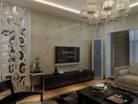 90㎡现代风格客厅电视背景墙装修效果图-现代风格电视柜图片