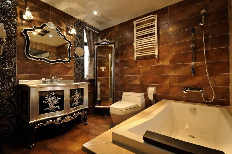 220㎡大户型欧式风格卫生间装修图片-欧式风格面盆柜图片