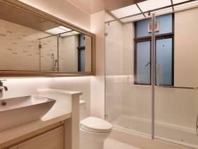 现代简约风格卫生间装修效果图-现代简约风格整体卫浴柜图片