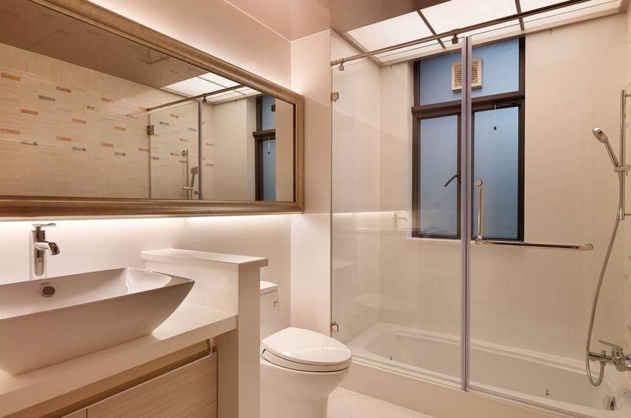 现代简约风格卫生间装修效果图-现代简约风格整体卫浴
