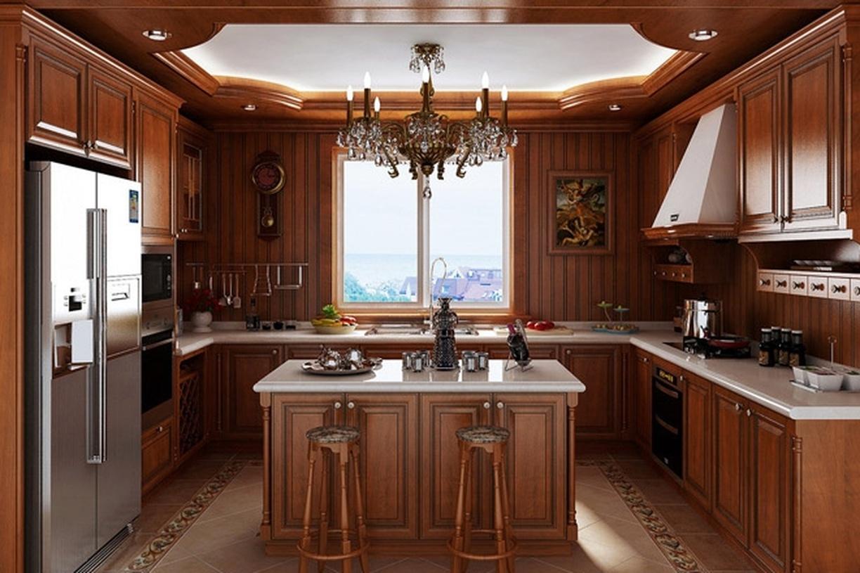 美式风格厨房吊顶装修效果图-美式风格壁柜图片