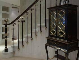 复式楼过道楼梯扶手装修图片
