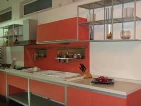 现代风格小厨房装修图片-现代风格不锈钢橱柜图片