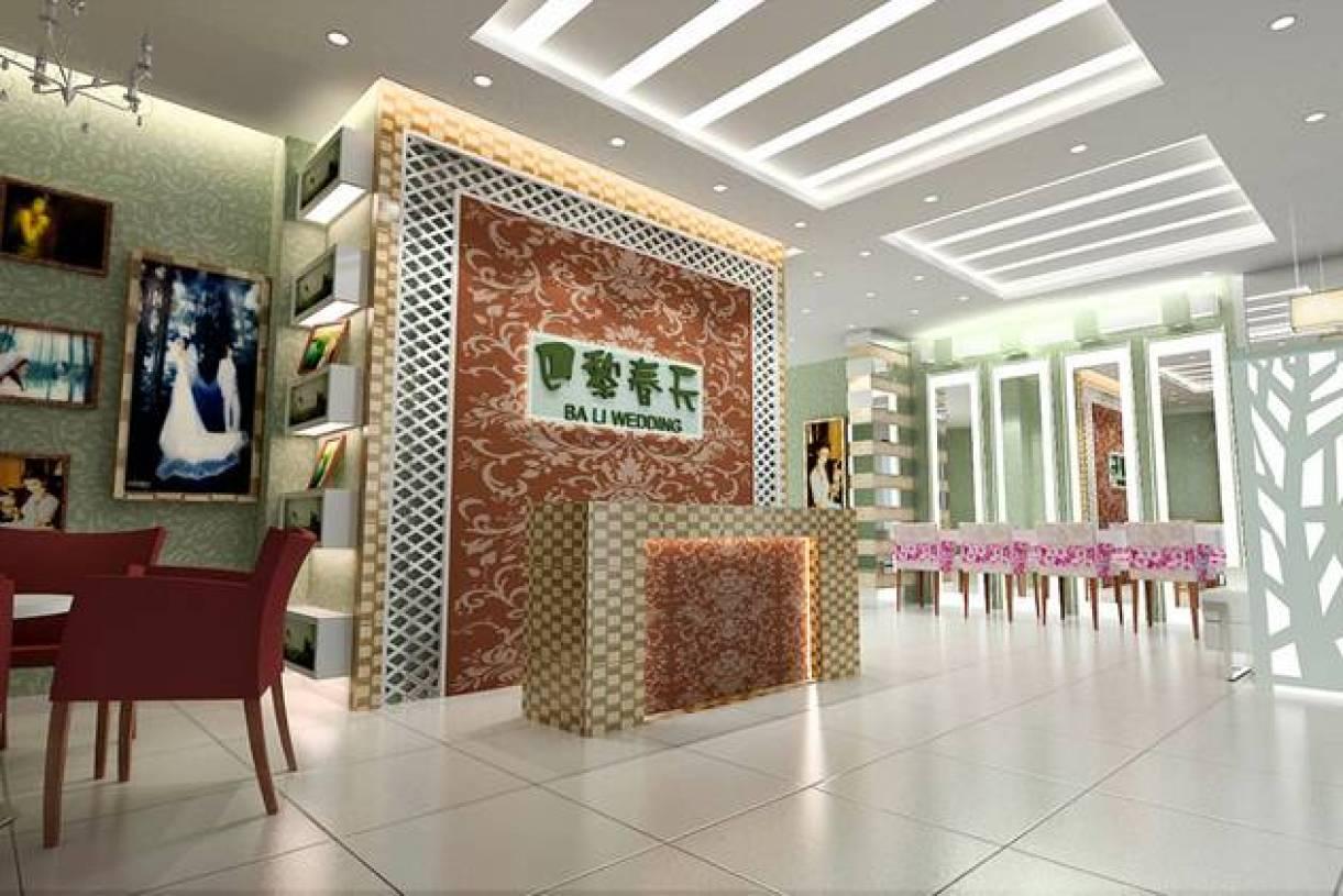 现代风格婚纱店吊顶装修效果图-现代风格灯具图片