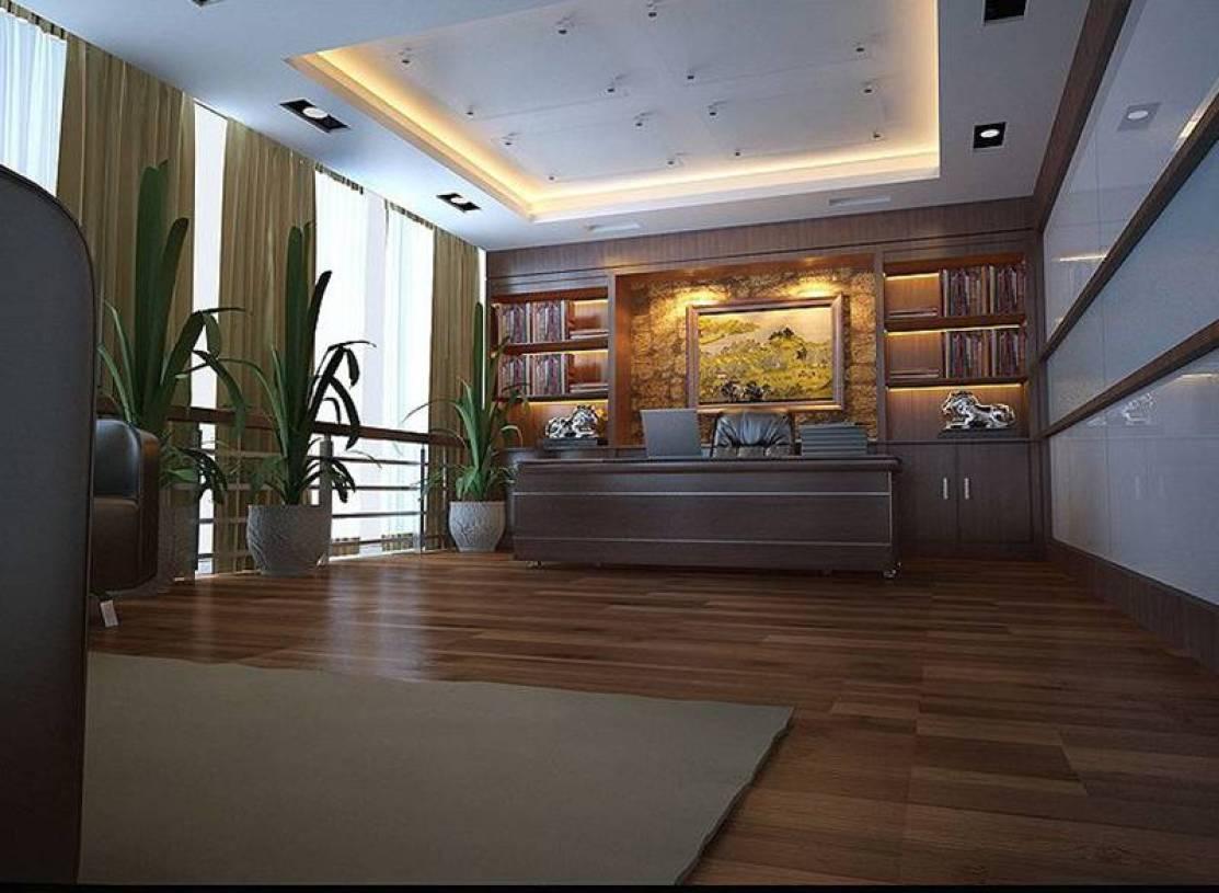 现代风格办公室背景墙装修效果图-现代风格办公桌图片图片