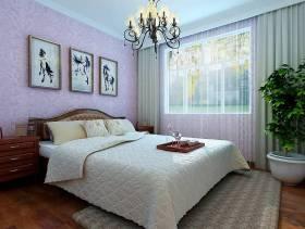 现代风格三居室卧室背景墙装修效果图,现代风格吊顶图片