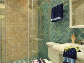 160m²欧式风格跃层卫生间淋浴房装修图片,欧式风格座便器图片