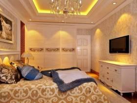 90㎡小户型简欧风格卧室背景墙装修效果图-简欧风格电视柜图片