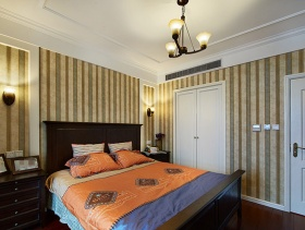 卧室背景墙纸装修图片