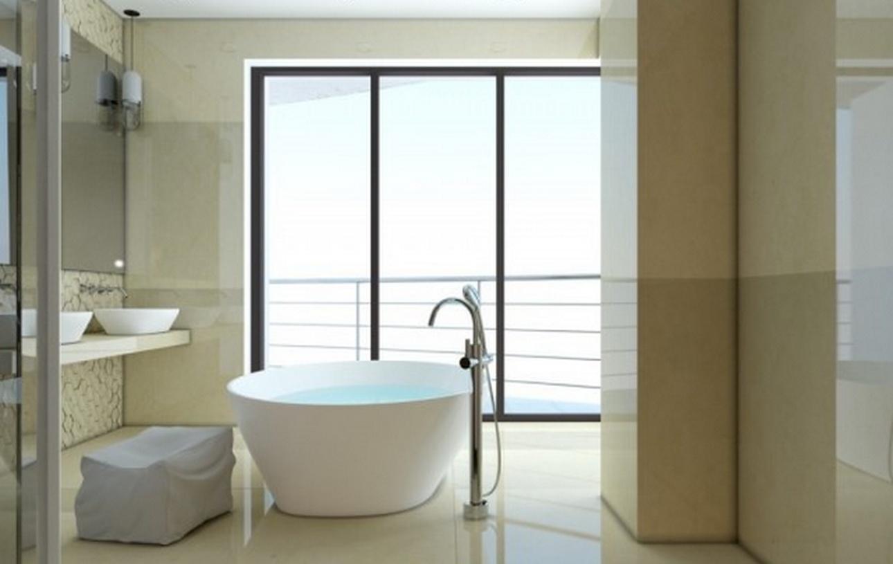 现代风格浴室装修效果图-现代风格浴缸图片