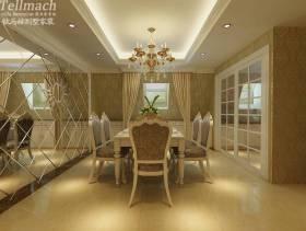 欧式风格复式餐厅背景墙效果图,欧式风格吊顶图片