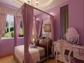 二居小卧室浅紫色环境装修效果图