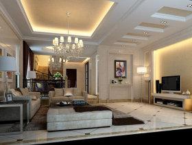 碧桂园现代复式客厅装修效果图