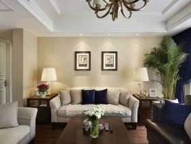 简约欧式风格客厅沙发背景墙装修图片-简约欧式风格台灯图片