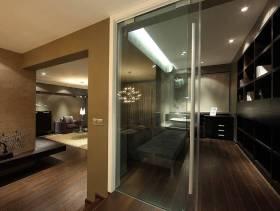 130㎡三居室现代简约风格书房门细节效果图-现代简约风格休闲沙发图片