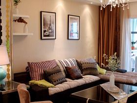 现代简约风格客厅沙发背景墙装修图片-现代简约风格沙发图片