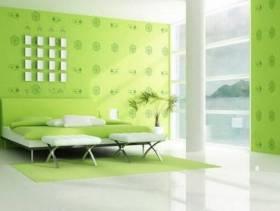 现代简约风格卧室背景墙装修效果图-现代简约风格液体墙纸图片