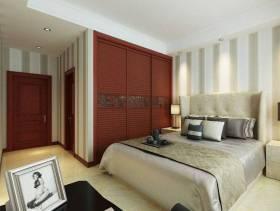 现代风格卧室背景墙装修效果图-现代风格实木衣柜图片