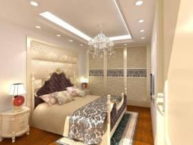 欧式风格小型别墅卧室吊顶装修效果图-欧式风格床头柜图片