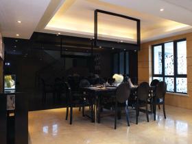 现代风格餐厅吊顶装修图片-现代风格餐桌图片