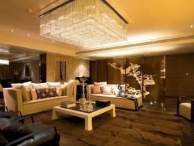 现代风格时尚别墅客厅吊顶装修效果图-现代风格茶几图片