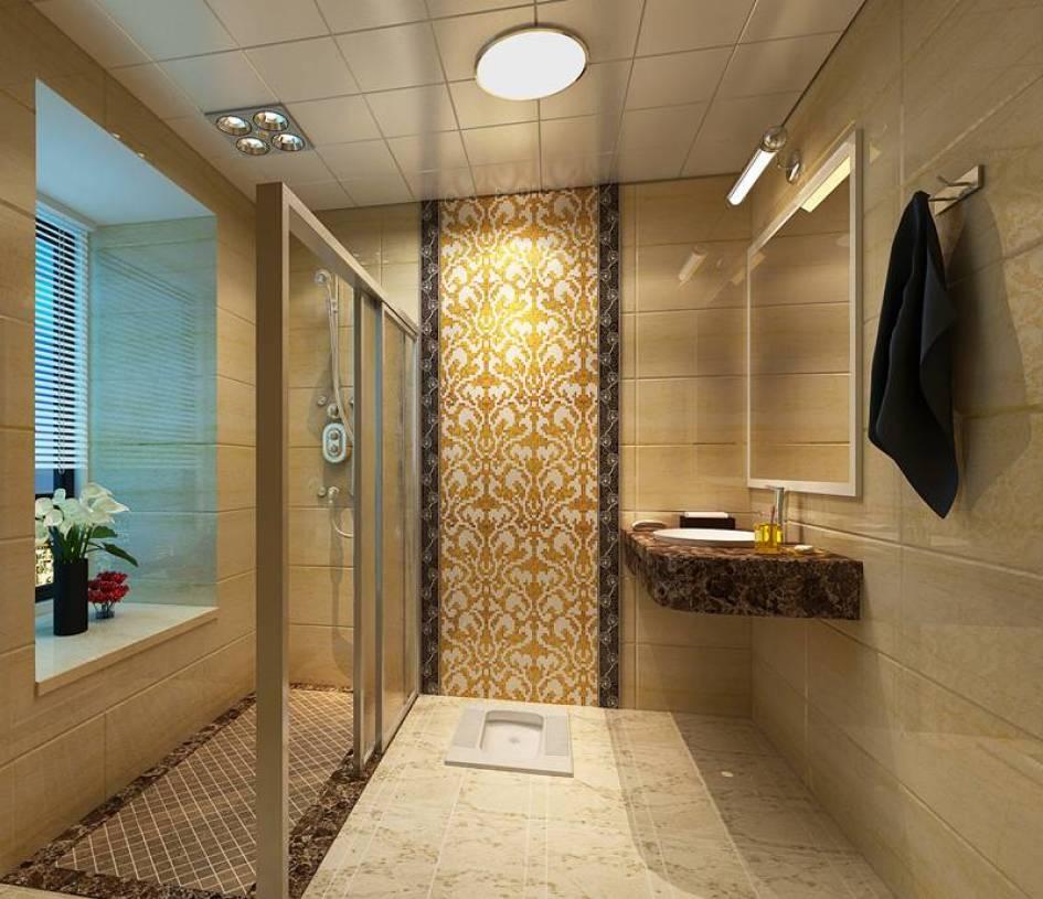 现代简约风格卫生间淋浴房装修效果图-现代简约风格面盆图片