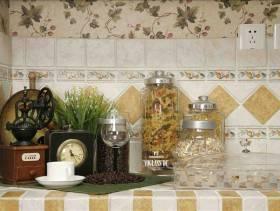 美式田园风格厨房装修图片